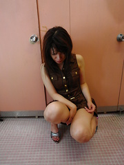 Sexy hot Remi Kawamura gives head in public - Japarn porn pics at JapHole.com