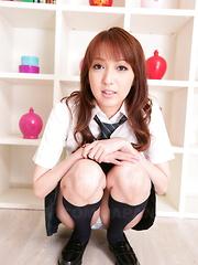 Hot babe Izumi Tachibana shows her small tits - Japarn porn pics at JapHole.com