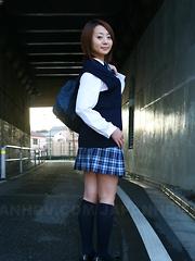 Hot teen Yu Shirogan gets her undies caught - Japarn porn pics at JapHole.com