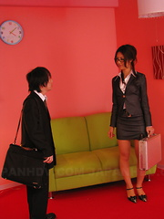 Hot secretary Julia Nanase gets banged hard - Japarn porn pics at JapHole.com