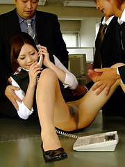 Hot secretary Iroha Kawashima gets drilled - Japarn porn pics at JapHole.com