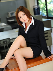 Lady Iroha Kawashima strips in her office - Japarn porn pics at JapHole.com