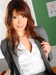 Sexy Yuno Hoshi sucks dick in class at school - Japarn porn pics at JapHole.com