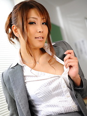 Arousing Yuno Hoshi poses as a hot teacher - Japarn porn pics at JapHole.com