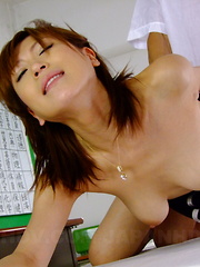 Dirty Jun Kusanagi seduces one of students - Japarn porn pics at JapHole.com