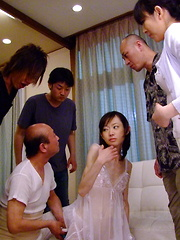 Young hot Aoba Itou gets used in group sex - Japarn porn pics at JapHole.com