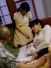 Teen Aoba Itou joins in threesome sex at home - Japarn porn pics at JapHole.com