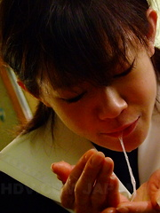 Young teen maid Aoba Itou pleases her master - Japarn porn pics at JapHole.com