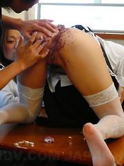 Japanese Mai Mizusawa gets in food fetish sex - Japarn porn pics at JapHole.com