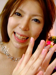 Turned on Rino Asuka gets rammed and creamed