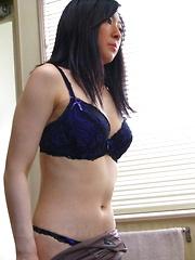 Sensual Emiko Koike does solo in her bathroom - Japarn porn pics at JapHole.com