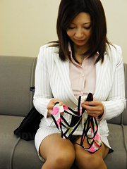 Brunette Sayuri Mikami gives head and titjob - Japarn porn pics at JapHole.com