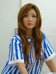 Cute Hibiki Ohtsuki cheats her man at work - Japarn porn pics at JapHole.com