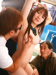 Pale redhead Yayoi Yoshino gets in group sex - Japarn porn pics at JapHole.com
