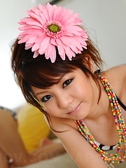 Hot dark haired Japanese babe shows her body - Japarn porn pics at JapHole.com