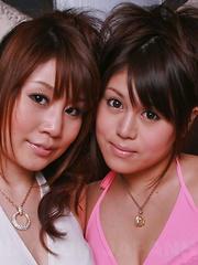 Honami Isshiki and Alice Mizuno pose topless - Japarn porn pics at JapHole.com