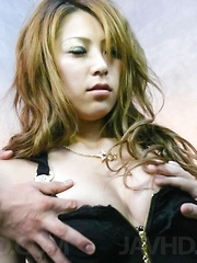Sakura Kiryu Asian has cans licked and wet vagina fucked a lot