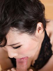 Misaki Akari deepthroat blowjob - Japarn porn pics at JapHole.com