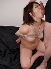 Ashikawa Mei doing rough deepthroat - Japarn porn pics at JapHole.com