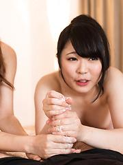 Japan Handjob from Kawagoe Yui and Kisaragi Aiku.zip - Japarn porn pics at JapHole.com