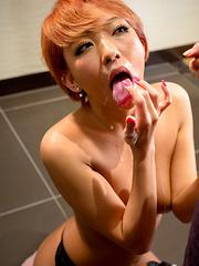 Hikari stroking her friend`s dick - Japarn porn pics at JapHole.com