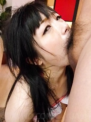 Hina Maeda Asian sucks dicks and plays with cum she gets in mouth - Japarn porn pics at JapHole.com