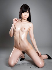 Sexy oiled japanese babe Shino Aoi - Japarn porn pics at JapHole.com
