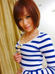 Nene Mashiro Asian with nude shaved pussy strokes tool till end - Japarn porn pics at JapHole.com