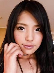 Eririka Katagiri Asian exposes ass and vagina while sucking penis - Japarn porn pics at JapHole.com