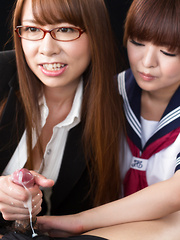 Imai Meril and Kai Miharu handjob - Japarn porn pics at JapHole.com