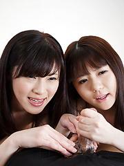 Yurikawa Sara and Araki Mai - Japarn porn pics at JapHole.com