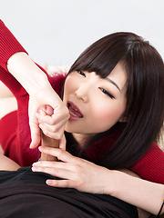 Aoi Shino makes handjob - Japarn porn pics at JapHole.com