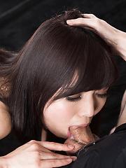 Aoi Shino loves to make deepthroat - Japarn porn pics at JapHole.com