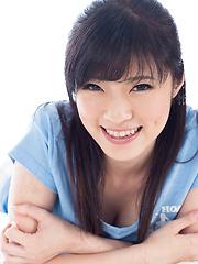 Yurikawa Sara stroking cock - Japarn porn pics at JapHole.com