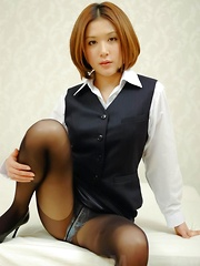 Emi Orihara Asian has stockings ripped and gets vibrator on cunt - Japarn porn pics at JapHole.com