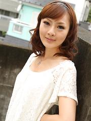 Asian gal Fujii shows her big natural tits