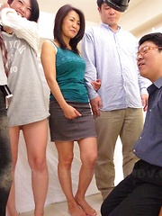 Lovely Japanese MILF babe teasing herself - Japarn porn pics at JapHole.com