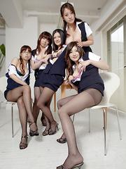 Hot darling Amu Umino shows her stockings - Japarn porn pics at JapHole.com