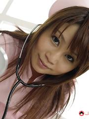 Asin nurse Honami Isshiki sucks many dicks - Japarn porn pics at JapHole.com