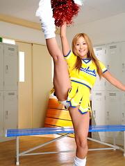 Slutty cheerleader Yui Aoyama shows her tits - Japarn porn pics at JapHole.com