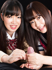 Aoyama Kanon and Aino Neko - Japarn porn pics at JapHole.com