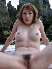 Nami Itoshino busty is fingered and gets doggy frigging at sea - Japarn porn pics at JapHole.com
