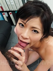 Sara Yurikawa licks and sucks hard penis before is fucked a lot - Japarn porn pics at JapHole.com