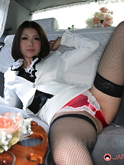 Sexy Japanese darling in stockings Tsubaki - Japarn porn pics at JapHole.com