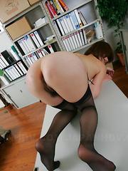 Freaky office slut Tsubaki gets fucked hard - Japarn porn pics at JapHole.com
