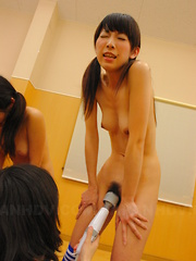 Soccer babes get their pussies stimulated - Japarn porn pics at JapHole.com