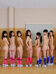 Japanese soccer sluts love to show off naked - Japarn porn pics at JapHole.com