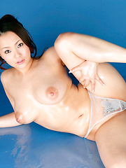 Rika Aiuchi Asian with huge nude boobs shows how flexible she is