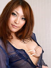 Rika Hoshimi Asian with oiled body has big boobs in tight bra - Japarn porn pics at JapHole.com