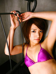 Ryoko Tanaka Asian on heels shows leering curves in lingerie